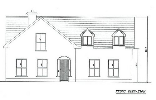 Front Elevation Planning Permission : Site with full planning permission for sq ft house